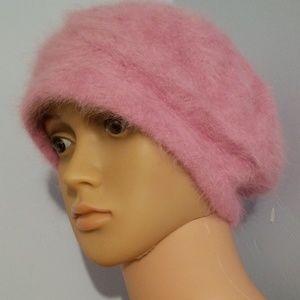 🎃CUTE PINK FUZZY WINTER HAT